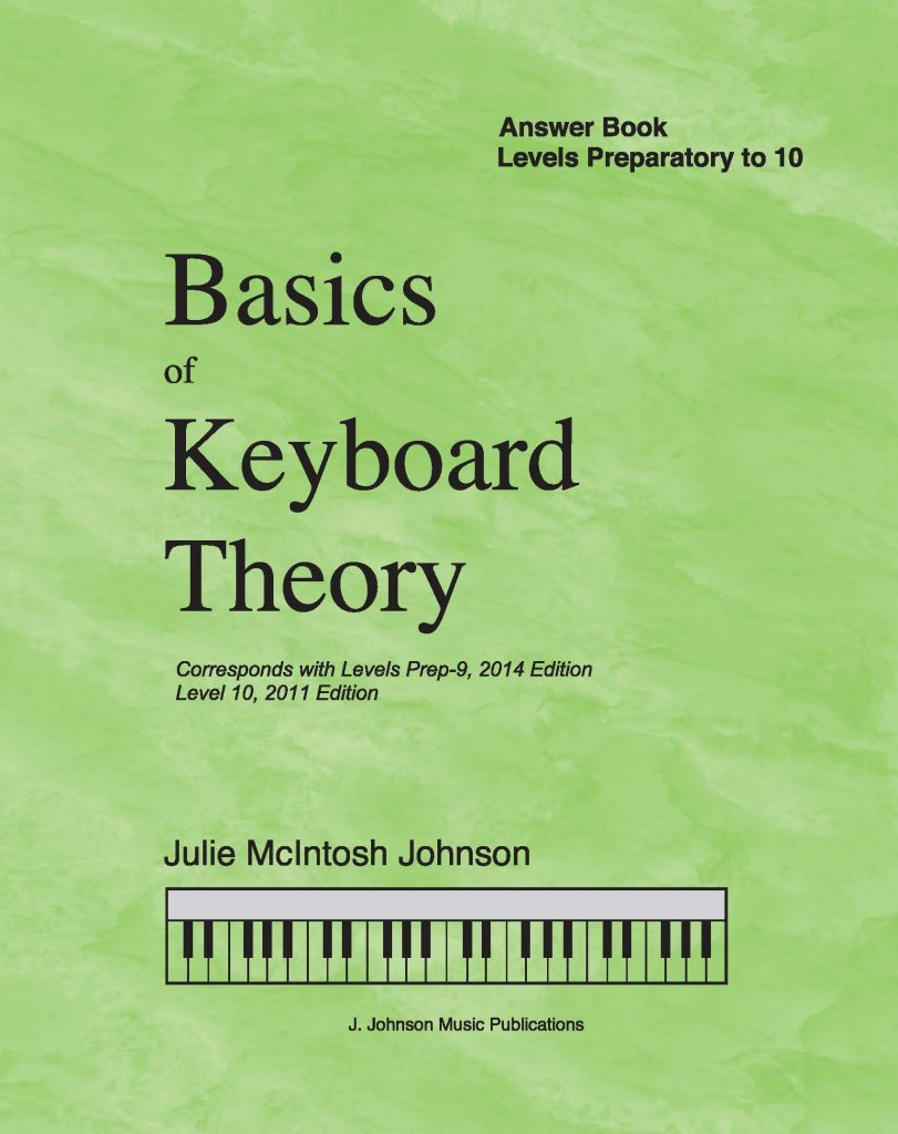 Basics of Keyboard Theory Answer Book Cover